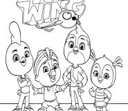 top wing friends coloring book