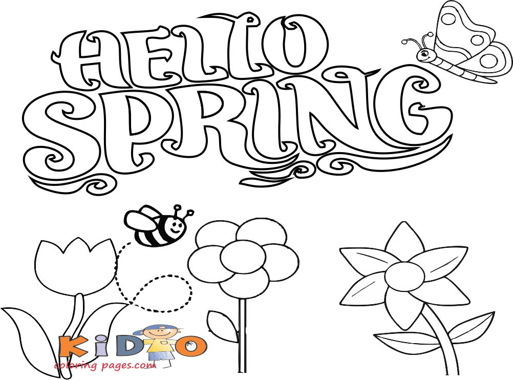 free spring coloring pages for kids to printable