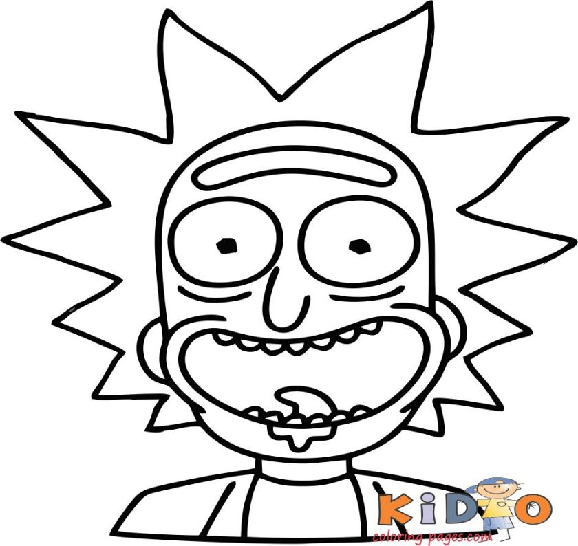 coloring pages happy rick print out for kids