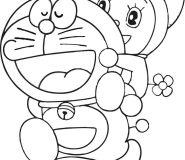 doraemon dorami coloring page