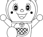 dorami coloring pages doraemon to print