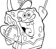 spongebob football coloring pages
