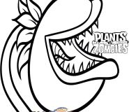 chomper plants vs zombies coloring page for kids