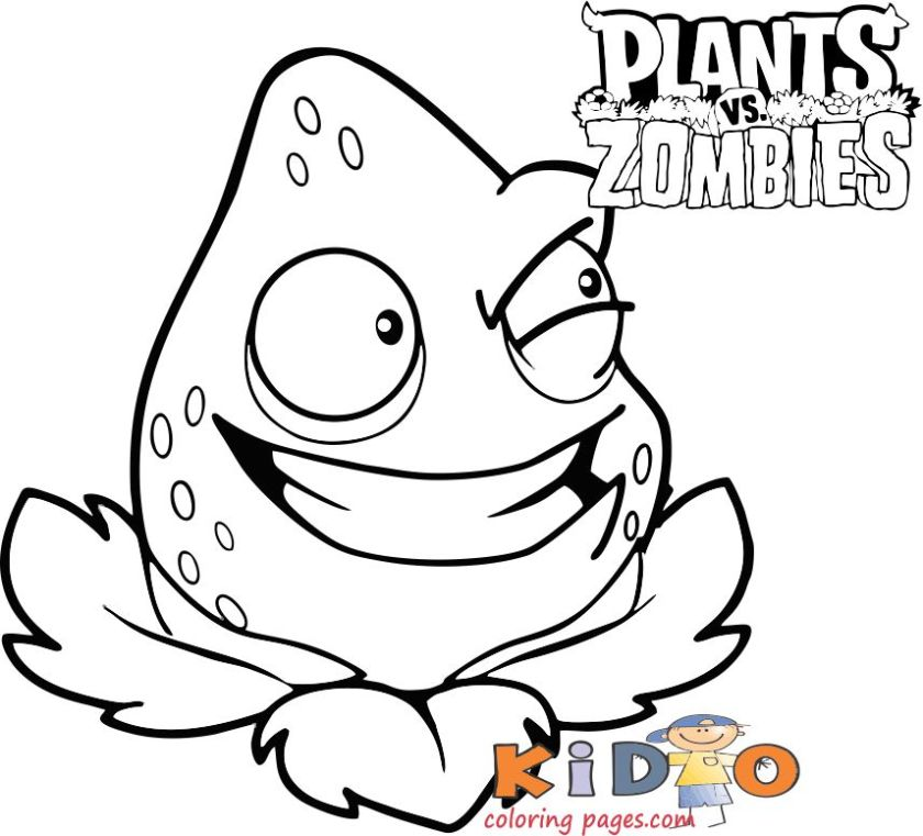 plants vs zombies strawberry coloring sheets kids free. Free print strawberry for kids to print out.