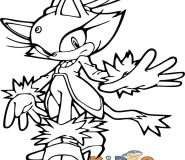Blaze prower coloring in pages of sonic to print out