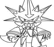 Metal Sonic coloring sheets printable