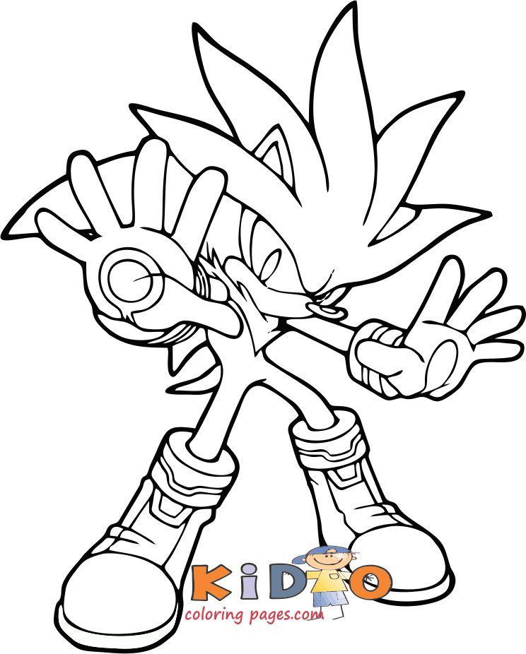 Silver sonic colouring pages printable