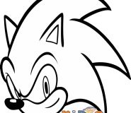 sonic the hedgehog kids coloring pages free print out