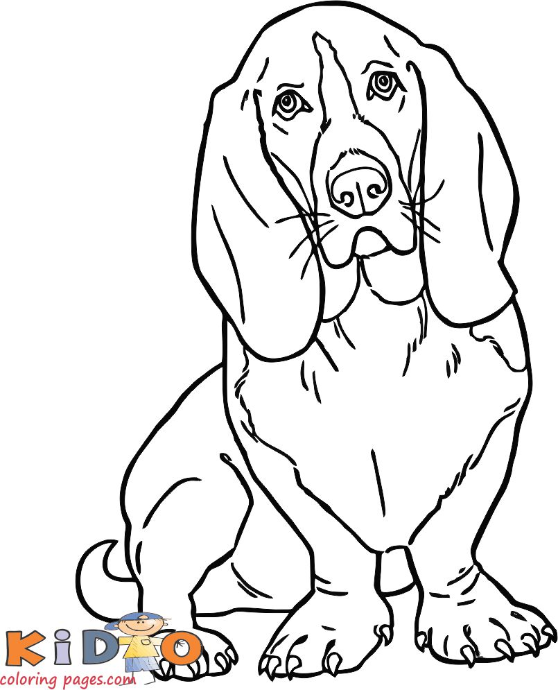 cute dog Slinky coloring pages for kids to print out