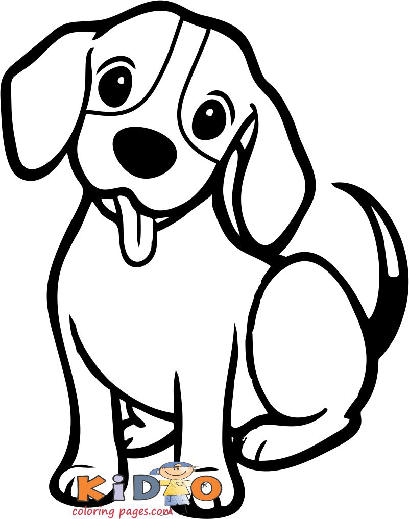 cute dog beagle coloring pages print out for kids