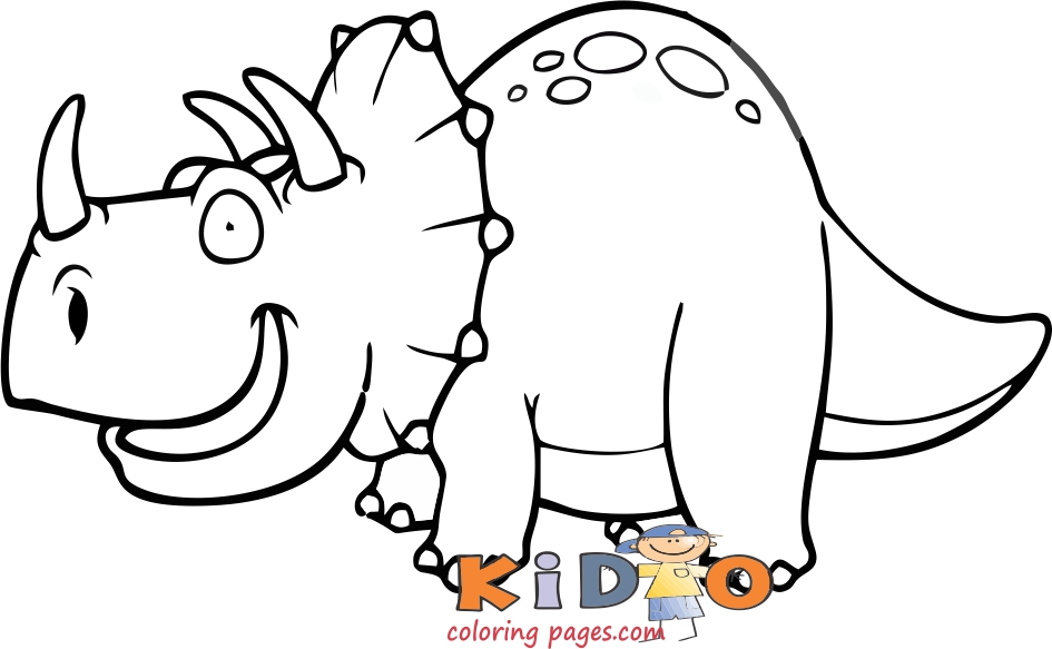 free dinosaur coloring pages of triceratops