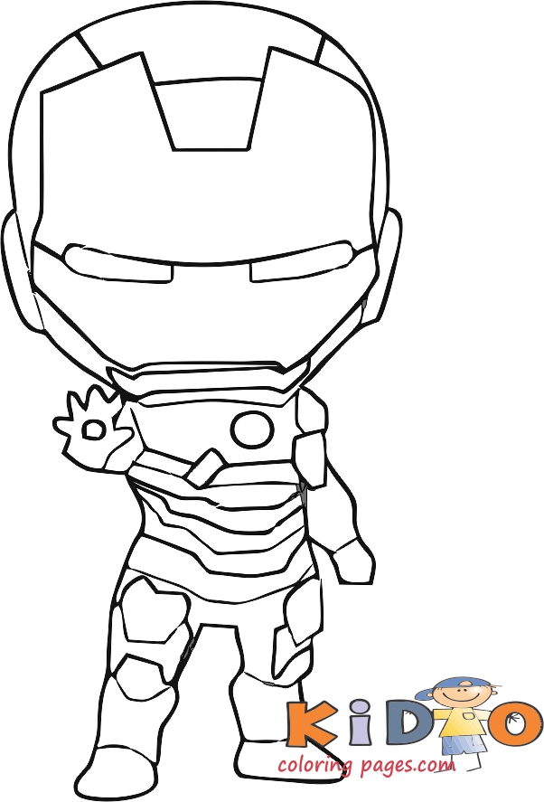 baby iron man coloring pages to print