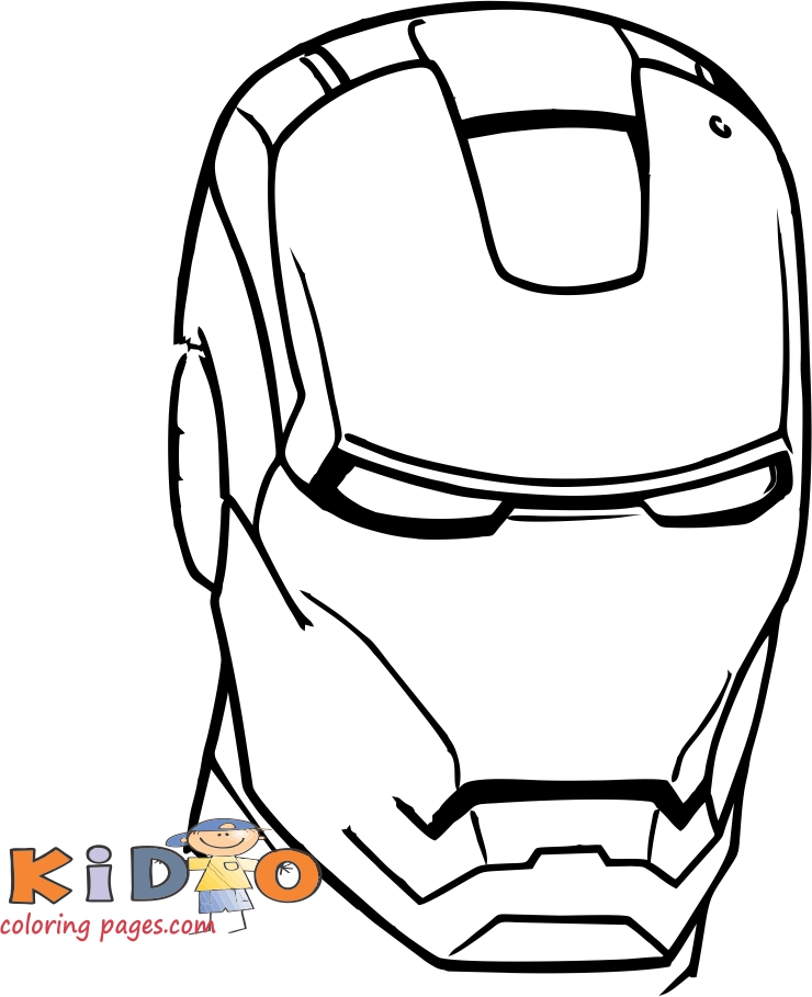 pictures to color iron man head to printable