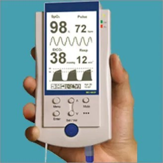 ETCO2 waveform capnography is now available in handheld monitors - along with SpO2, HR, RR etc