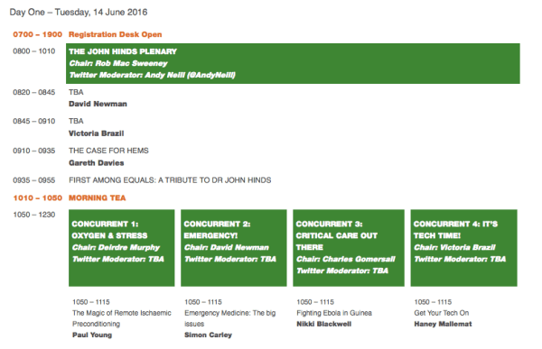 Easy to navigate - one page view of all events and speakers