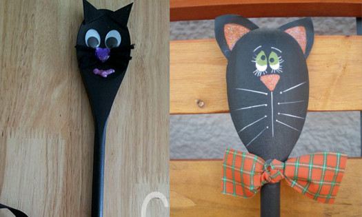 Wooden Spoon Cat Puppet Craft