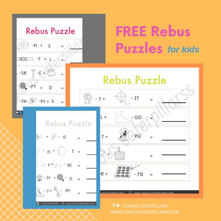 Free rebus puzzles for kids