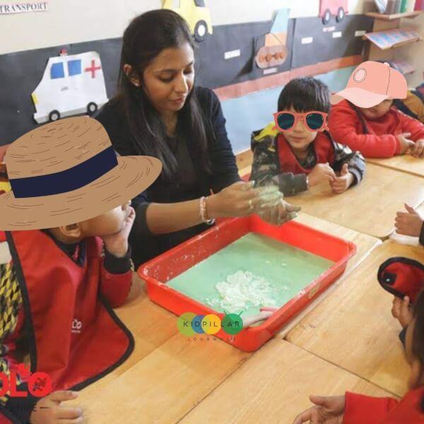 DIY quicksand for kids