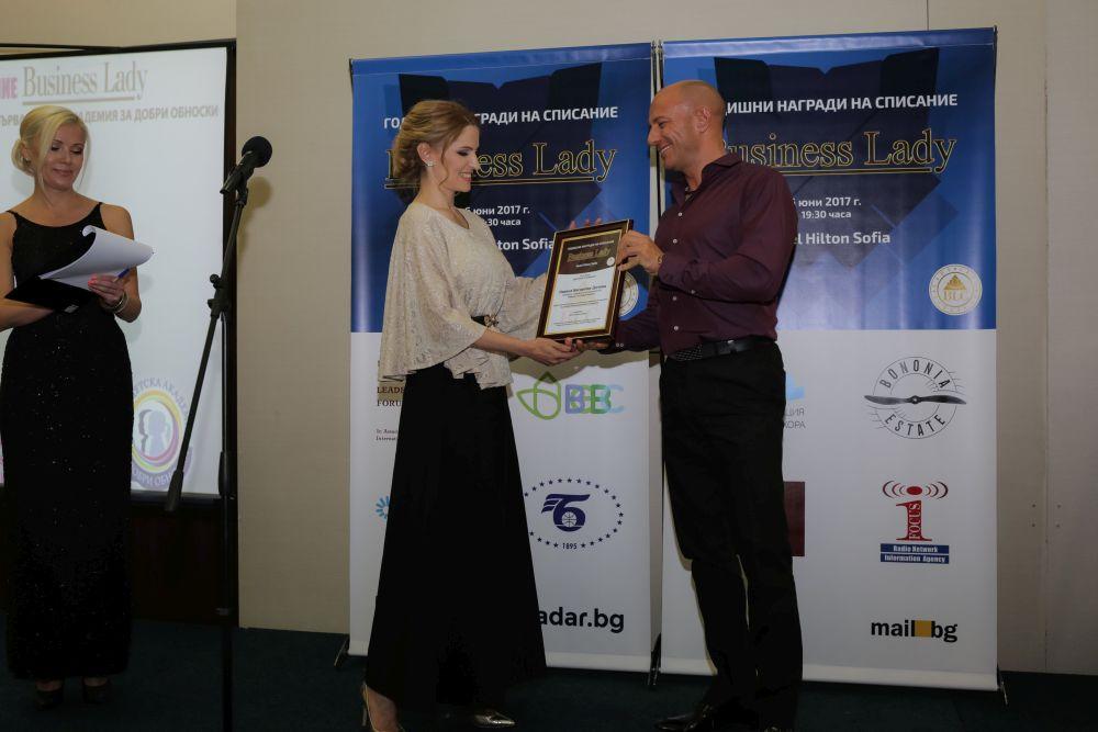 Основателят на Първа Академия за Добри Обноски с престижна награда за обучение и развитие