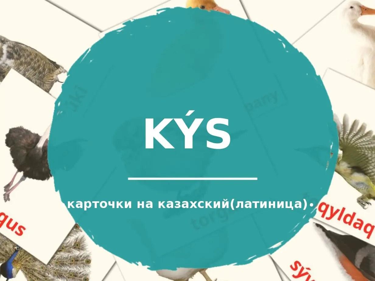 27 бесплатных карточек Птицы для детей на Казахский(латиница) (PDF файлы)