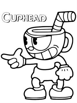 Cuphead Coloring : cuphead, coloring, Kids-n-fun.com, Coloring, Pages, Cuphead