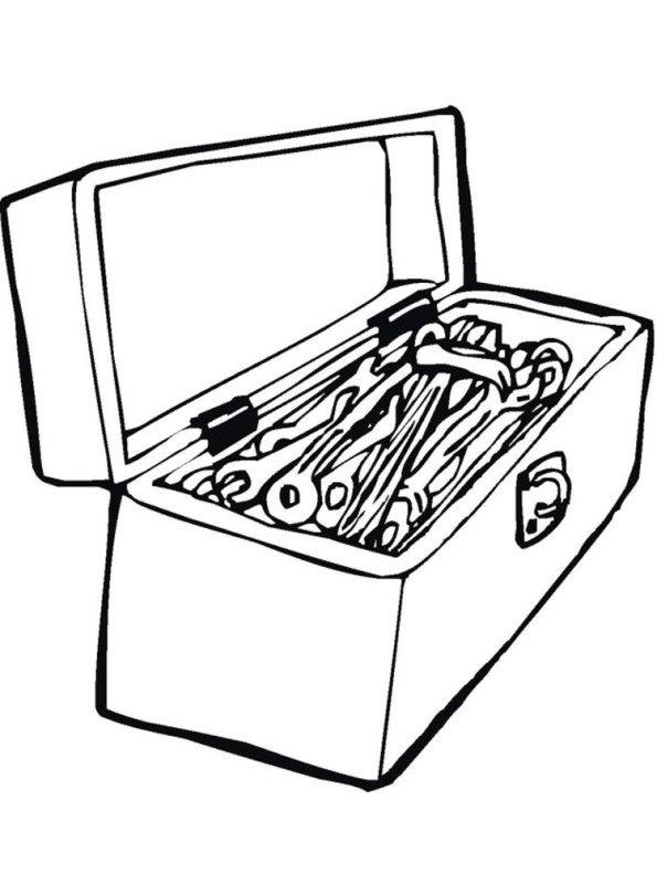 Tool Box Coloring Page : coloring, Kids-n-fun.com, Coloring, Tools, Toolbox