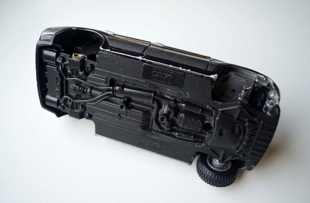 Completely broken and destroyed Bburago BMW X5 broken in 1:24 scale