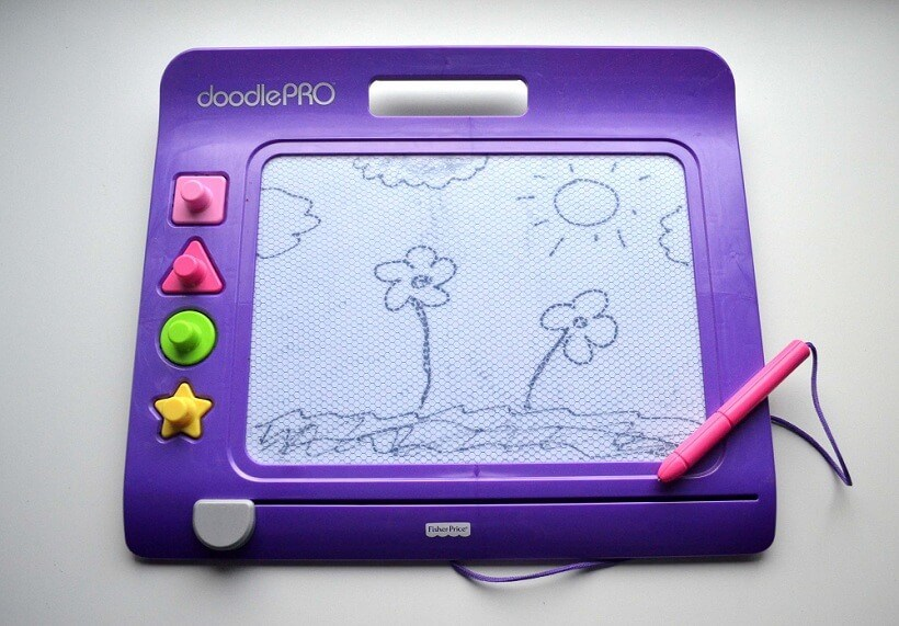 Purple Fisher-Price Slim Doodle Pro