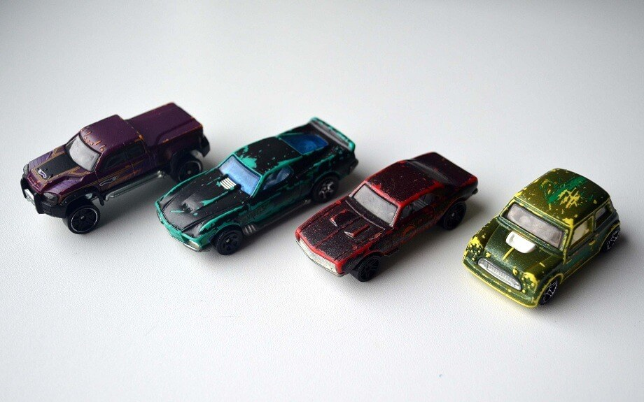 Hot Wheels Color Shifters when cold