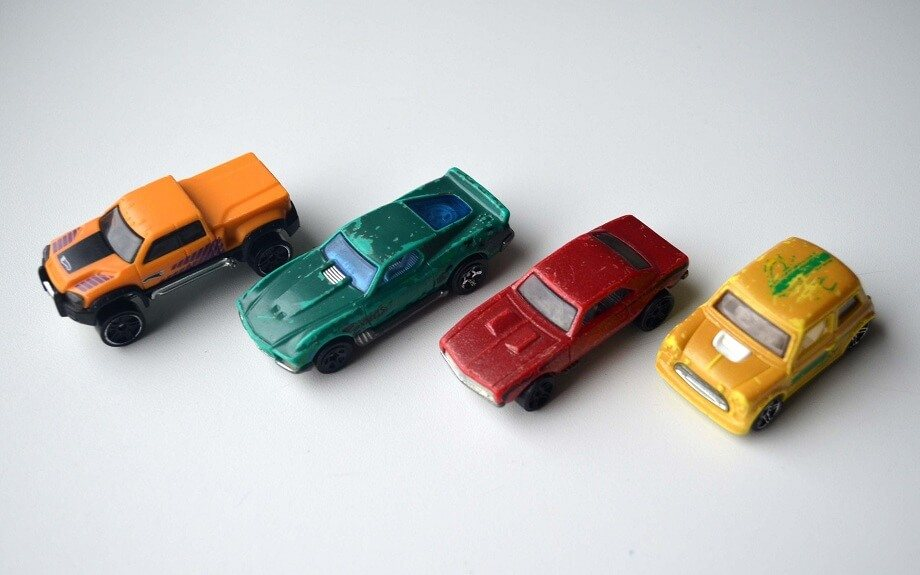 Hot Wheels Color Shifters when warm