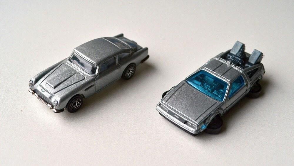 James Bond Aston Martin and DeLorean Hot Wheels
