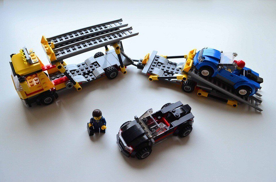 Lego Auto Transporter set with two sports cars 60060