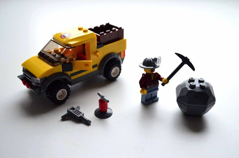 LEGO City Mining 4x4 Pickup Truck with Boulder