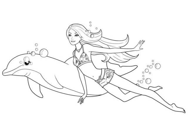 Free Barbie Mermaid Coloring Pages  Kids-Pic.com