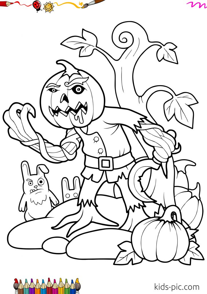10 Halloween Pumpkin Coloring Pages For Kids Kids Pic Com