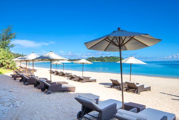 リッツカールトン沖縄のプライベートビーチ