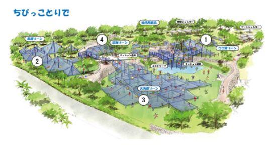 沖縄美ら海水族館の子供の遊び場の地図