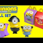 2015 McDonalds Happy Meal Toys Minions Movie
