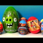 30 Surprise Easter Eggs Kinder Peppa HelloKitty Giant AngryBirds Starwars Disney Marvel Spiderman