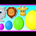 3D Surprise Eggs Smallest to Biggest | Learning Wild Animals for Kids Baby Toddler