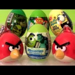 Angry Birds Huevos Sorpresa SHREK Spongebob Pixar Monsters University Disney Phineas Ferb Easter