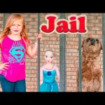 ASSISTANT in JAIL TheEngineeringFamily Funny Kids Video with Dog Ryan in Puppy Jail + Frozen Elsa