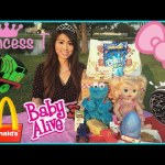 BABY ALIVE EAT REAL MCDONALD HAPPY MEAL Playtime at the Park Cookie Monster Egg Surprise Toys