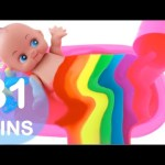 Baby Doll Bathtime Slime Bath Paint Gumball Candy Surprise Compilation RainbowLearning