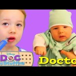 Baby is The Doctor! Doc McStuffins Check Up ❤ Dr Sandra Hospital & Medical Bag by DisneyCarToys