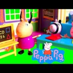 Back to School with Peppa Pig School Playset NEW with Zoe Zebra Kids Toy Review by DisneyCollector