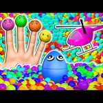 Ball Pit Show Collection 3D for Kids to Learn Colors with Giant Surprise Eggs Color Balls Helicopter