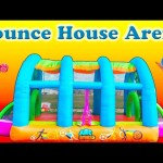 BOUNCE HOUSE Huge Worlds Largest Surprise Bounce House Sports Arena + Lion Guard + Paw Patrol Video