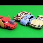 Cars Snot Rod with Flames, Cars 2 Francesca Chase, Victor Paveone, Donna Pits Disney Pixar car-toys