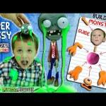 Chase's Corner: GOOEY OOZE Monster Mess! PVZ Zombie Slime Head + Build Kit (#29)   DOH MUCH FUN